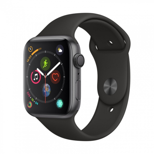 купить Apple Watch Series 4 44mm Case Space Grey Aluminium Sport Band Black в Барнауле и Горно-Алтайске