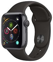 купить Apple Watch Series 4 40mm Case Space Grey Aluminium Sport Band Black в Барнауле и Горно-Алтайске