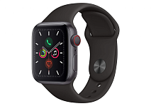 купить Apple Watch Series 5 40mm Case Space Grey Aluminium Sport Band Black в Барнауле и Горно-Алтайске