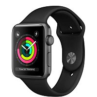 купить Apple Watch Series 3 42mm Case Space Grey Aluminium Sport Band Black в Барнауле и Горно-Алтайске