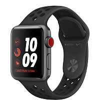 купить Apple Watch Series 3 38mm Case Space Grey Aluminium Nike Sport Band Anthracite/Black в Барнауле и Горно-Алтайске